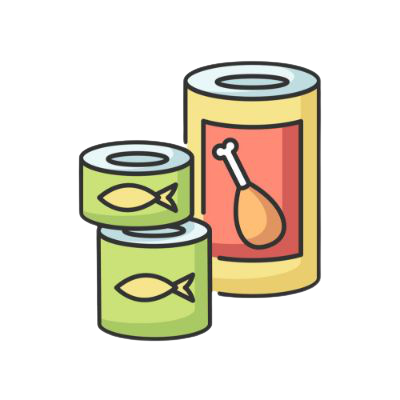 Tins & Canned Food